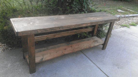 Dark Walnut Stained LARGE 18 wide x 78 long x by UniquePrimtiques, $279.95