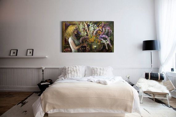 Still Life Wall Art-Golden hair-Flowers Oil от InnaShirokova
