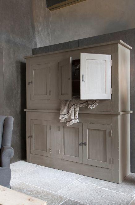Kast hoffz cabinet dressoir pinterest kast landelijk wonen en kasten - Keukenmeubelen rustiek ...