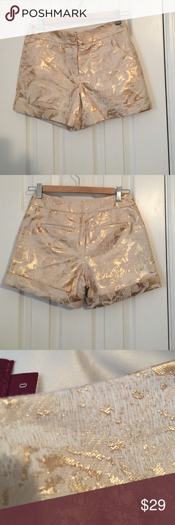 Like New Gold Ted Baker Shorts Gold Ted Baker Shorts Ted Baker Shorts