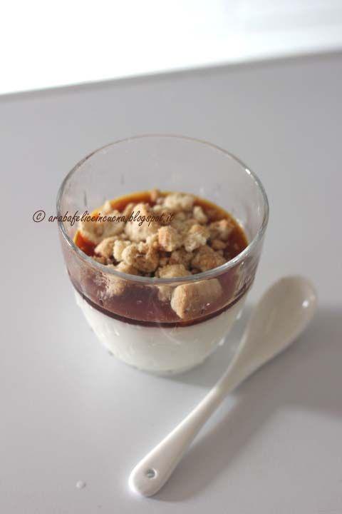 Arabafelice in cucina!: Panna cotta con caramello all'arancia e crumble di riso e mandorle