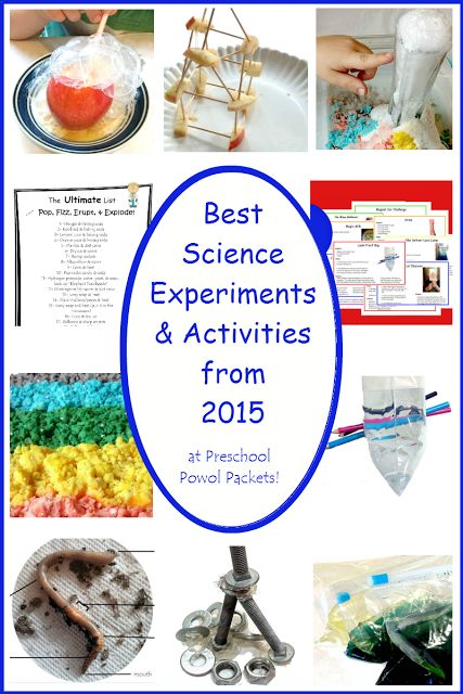 Best Science Experiments from 2015 | Preschool Powol Packets