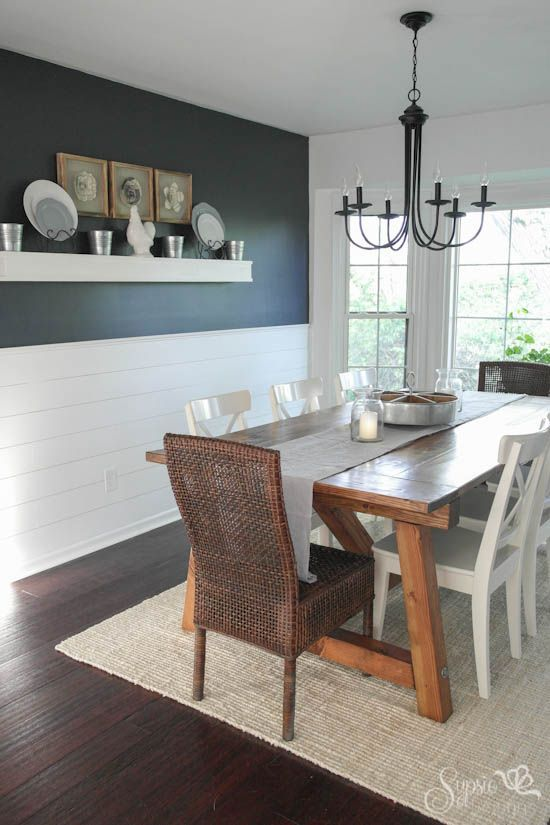 Captivating Farmhouse Table And Dining Room Makeover, Dining Room Ideas, Diy, Painted  Furniture, Woodworking Projects