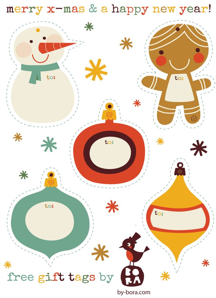 Todos os tamanhos | Free to download Gift Tags by BORA | Flickr –…