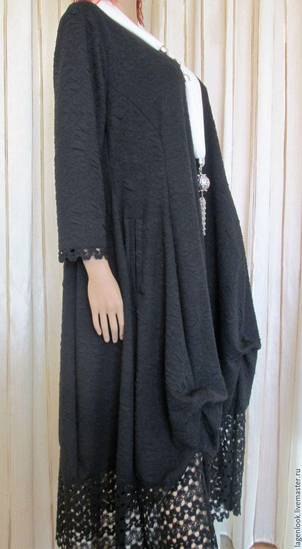 Купить Платье из жаккардового трикотажа - черный, трикотаж, трикотажное платье, трикотажное полотно, жаккард