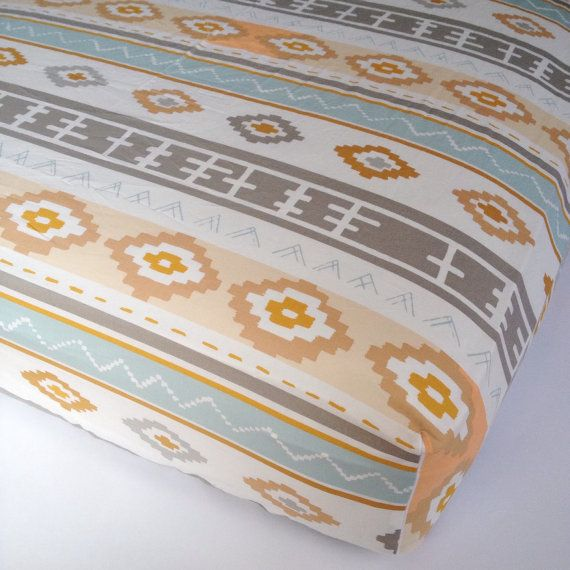 Southwestern CRIB SHEET  Changing Pad Covers / Fitted Crib