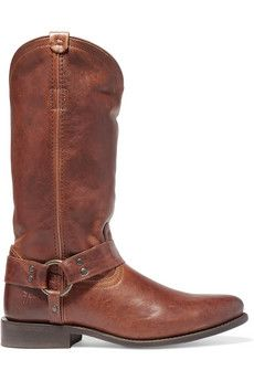 Frye Wyatt distressed leather boots | THE OUTNET