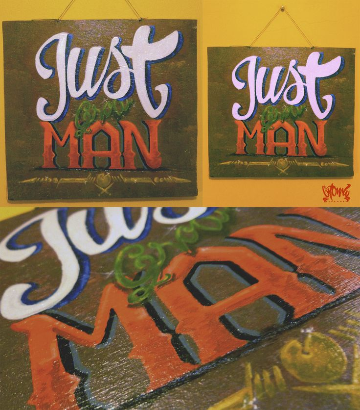 Just grow man lettering in sale.