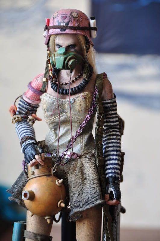 Post apocalyptic dollies - Merk Girl. Helmet design is from Sucker Punch, one of my favorite movies