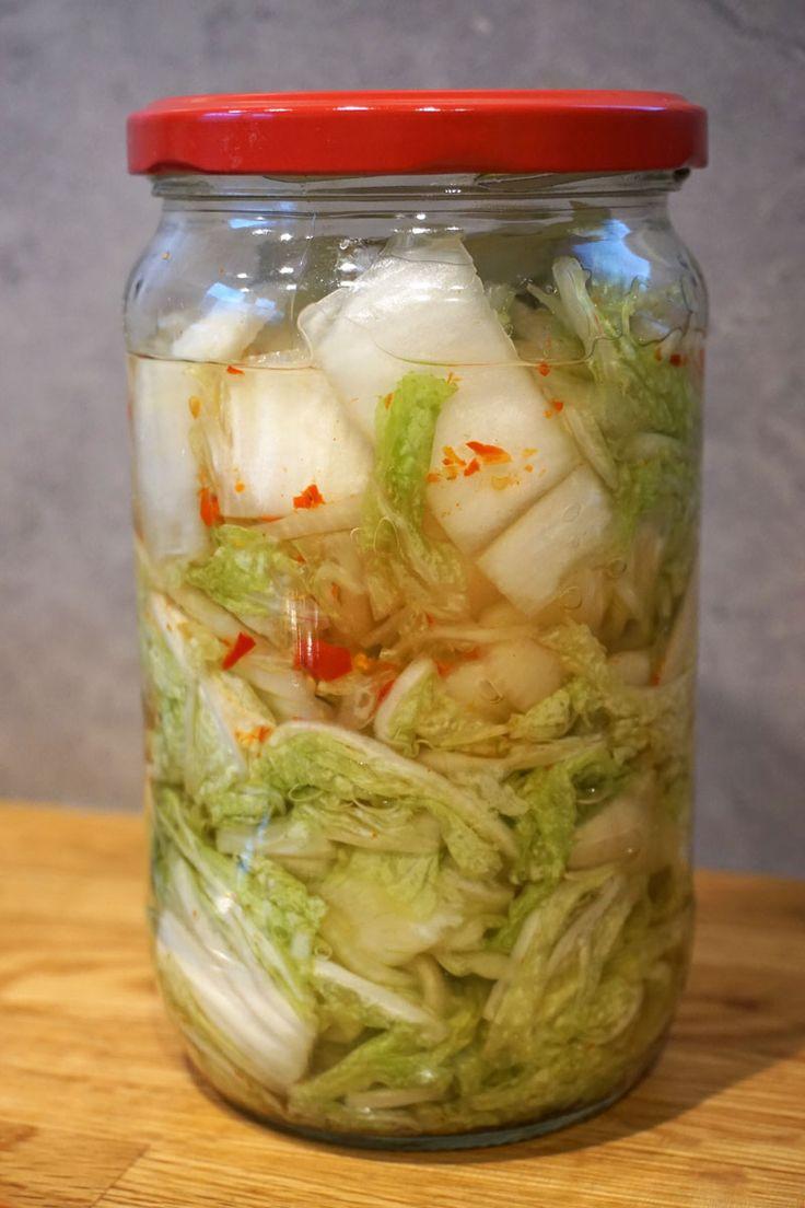 Kimchi / eingelegter Chinakohl mit Knoblauch