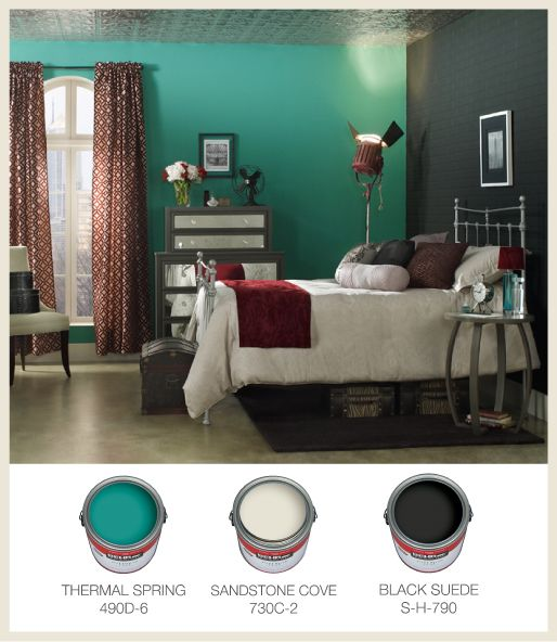 These Colors Give This Bedroom A Dark And Glamorous Feel Behrpaint