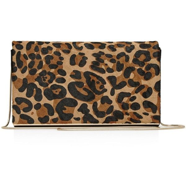 Reiss Mina Leopard Print Suede Evening Clutch ($210) ❤ liked on Polyvore featuring bags, handbags, clutches, leopard, leopard handbag, evening clutches, special occasion clutches, suede purse and convertible purse