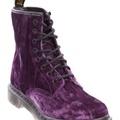 Dr Martens - Core Casle 8 Eye Boot - Flat Boots (Purple)  Vibrant Colour  Available at www.shoesonline.com.au