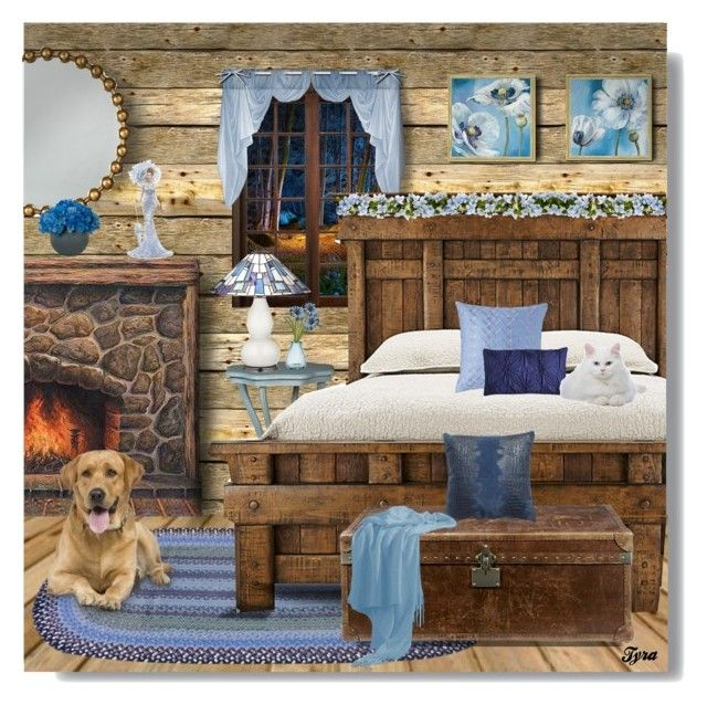 """Cozy Little Rustic Bedroom"" by oregonelegance ❤ liked on Polyvore featuring art, bedroom and rustic"