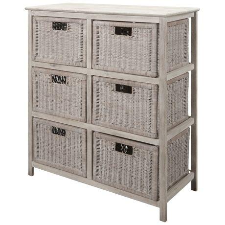 Whitehaven 6 Drawer Storage Unit | Freedom Furniture and Homewares