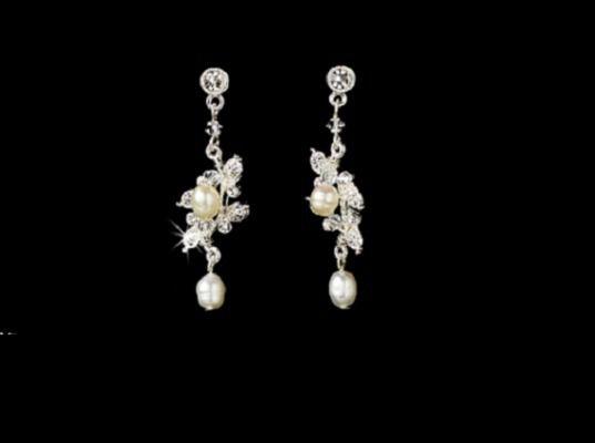 Elegant Freshwater Pearl Drop Wedding Earrings