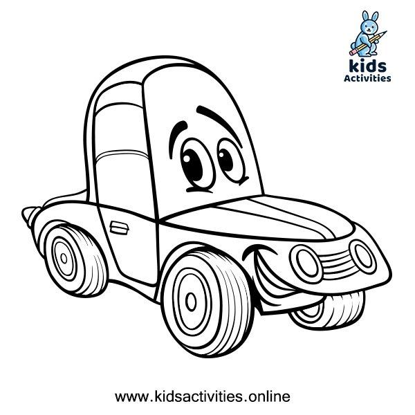 Free Printable Cute Car Coloring Pages For Kids Kids Activities Cars Coloring Pages Cute Coloring Pages Tractor Coloring Pages