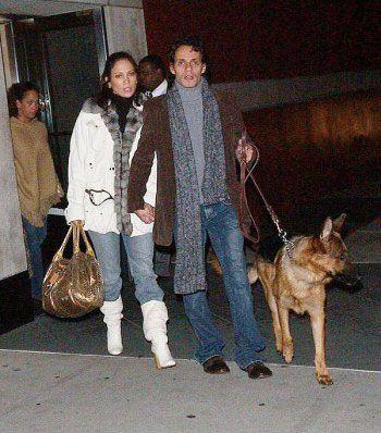 Jennifer Lopez and husband walk their dog