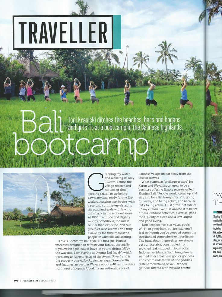 ProSport Bali Bootcamp as seen in Fitness First Magazine #FitnessFirst