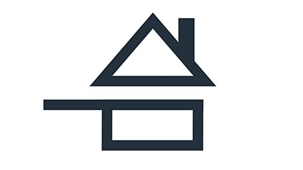 Fair maison logo. This new symbol will be appearing on restaurants in France, to indicate dishes made in-house, and not put together from pre-prepared ingredients bought in from elsewhere.