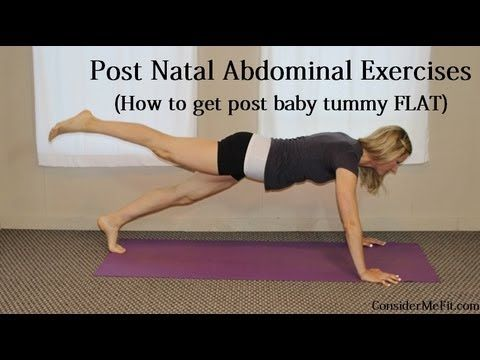 Post Baby Ab Exercises/Post Natal Abdominal Workout VIDEO - (How to get post baby tummy FLAT) - Please PIN and FOLLOW!  www.ConsiderMeFit.com