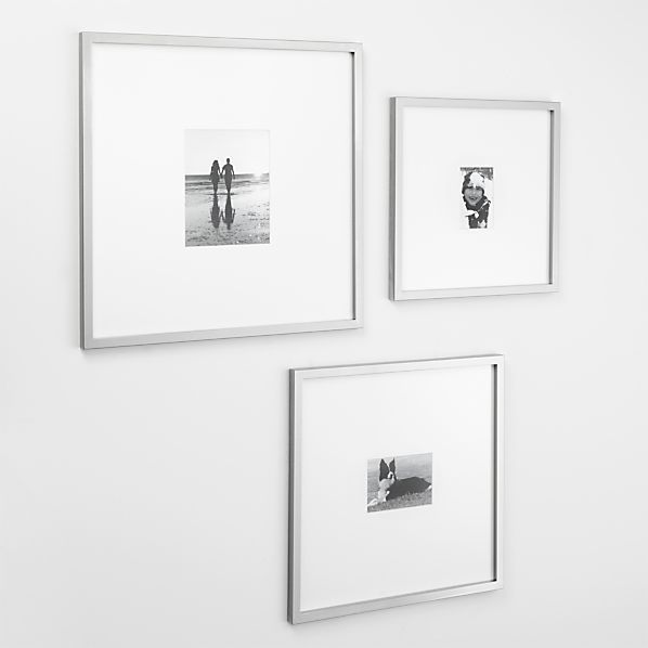 Brushed Silver Gallery Frames  | Crate and Barrel