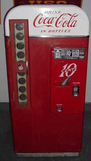 Coca Cola vending machines of 1940's...YES, these were still around in the 70's. I recall using a couple at old country stores.