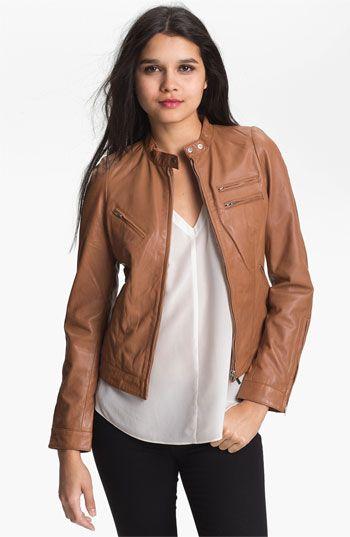 Bod & Christensen Zip Leather Jacket
