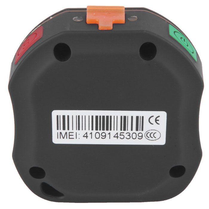 DMDG mini GPS tracker pro starší, děti, domácí zvířata w / monitor SOS - černá