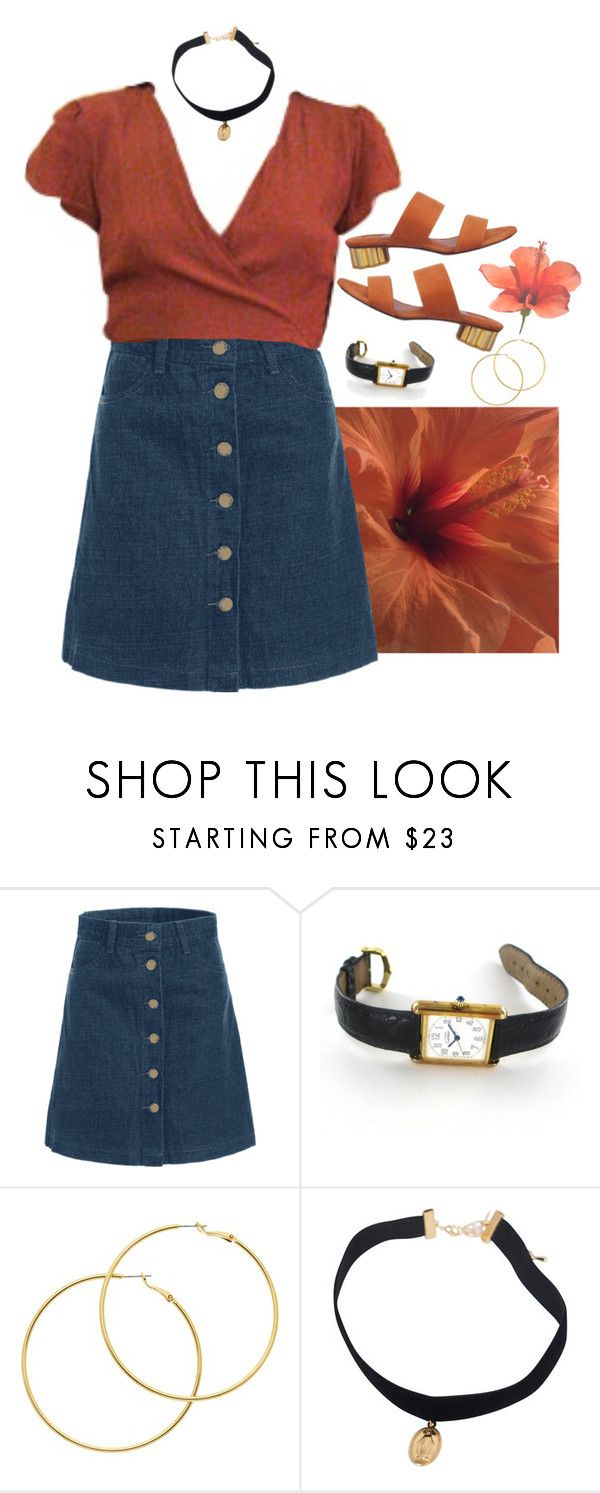 """""""Flowerss"""" by lsaroskyl ❤ liked on Polyvore featuring Cartier and Melissa Odabash"""