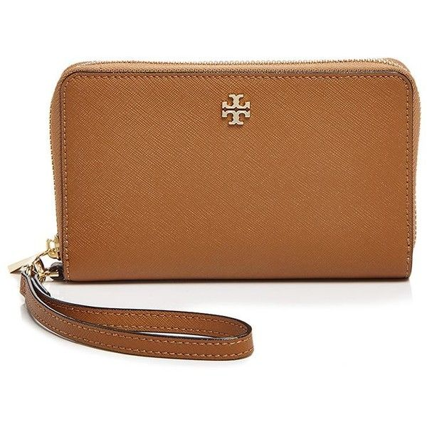 Tory Burch Robinson Zip Around Smartphone Wristlet (€170) ❤ liked on Polyvore featuring accessories, tech accessories, bags, wristlet smartphone, smart phone wristlet, tory burch, smartphone wristlet and tory burch tech accessories