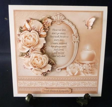 SYMPATHY THOSE WE LOVE Verse Decoupage 8x8 Mini Kit on Craftsuprint designed by Janet Briggs - made by Michelle  Chivers