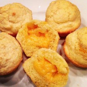 Savory Cheddar-Stuffed Mini Corn Muffins {Gluten-Free}