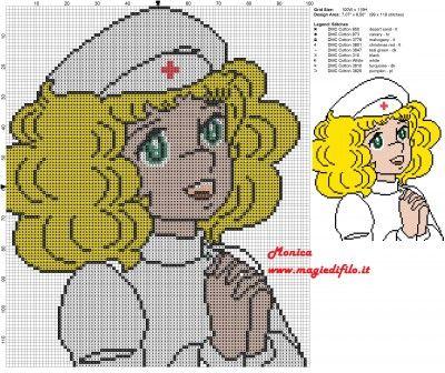 Schema punto croce Candy Candy infermiera 100x119 8 colori.jpg (3.96 MB) Mai osservato