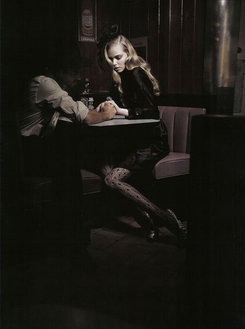 """""""Suggestions"""". Tanya Dziahileva by Greg Lotus. Vogue Italy, August 2009."""