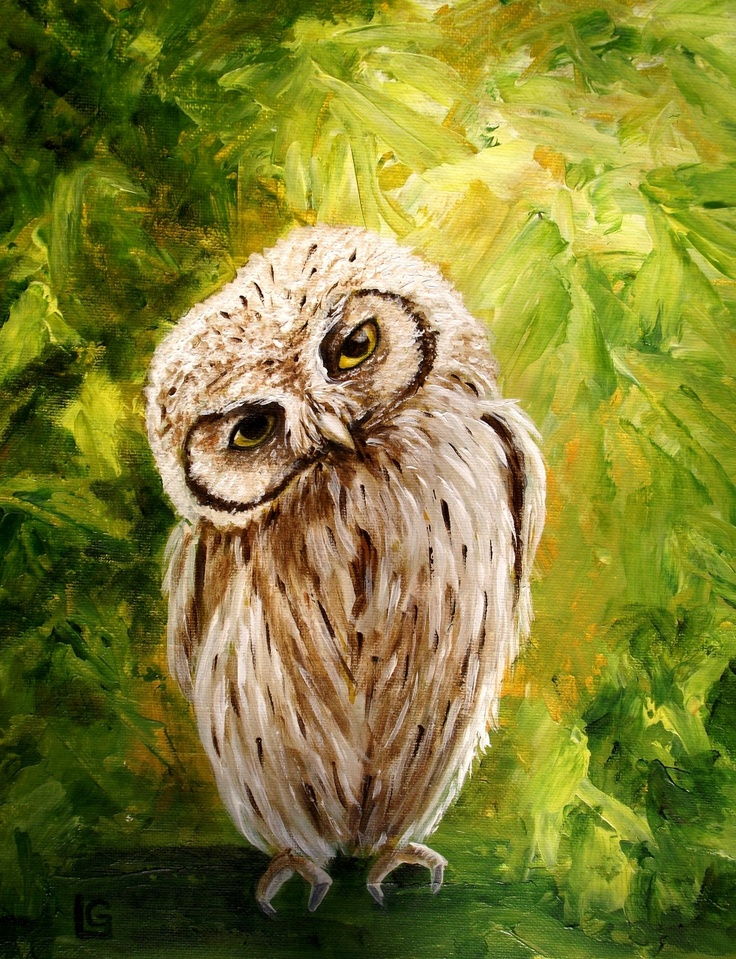 Whooo are you - original acrylic painting
