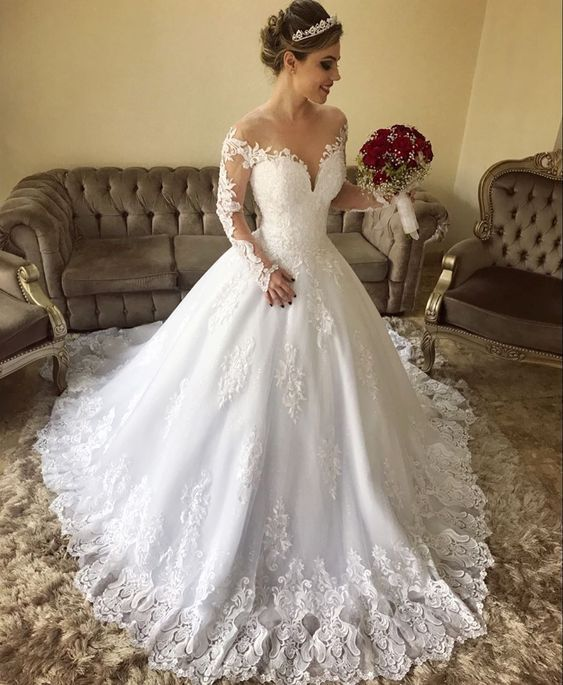 Scorching Sale Stylish Lace Lengthy Sleeves Nation Off Shoulders Wedding ceremony Gown,GDC1128