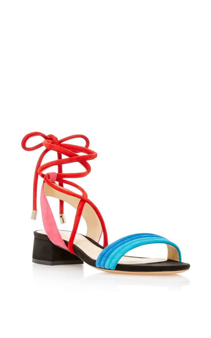 Aurora Lace-Up Suede Sandals by ALEXANDRE BIRMAN Now Available on Moda Operandi