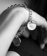 Toggle Bracelet with 2 Charms