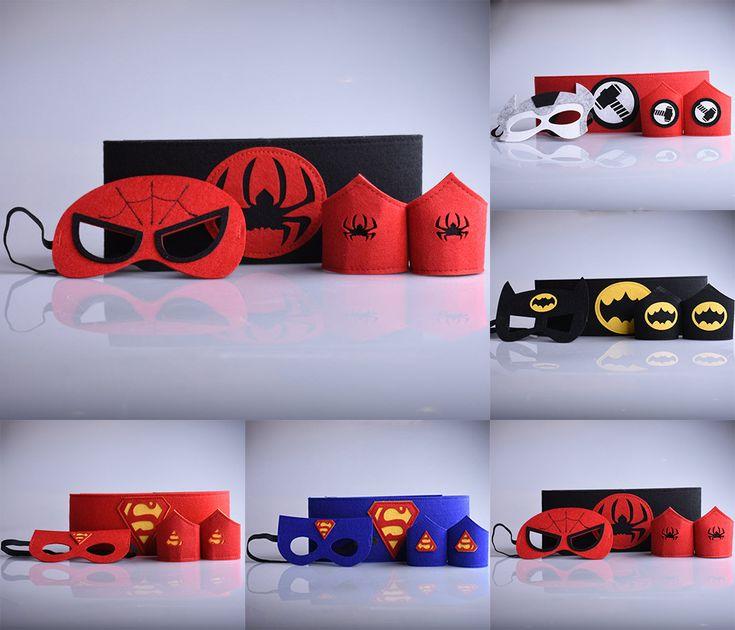 Cheap Superhéroe 1 Unidades = 2 pulsera + 1 máscara + 1 cinturón de superman batman Spiderman Thor cosplay juguetes muñeca armguard riem niños traje de la historieta, Compro Calidad Máscaras del partido directamente de los surtidores de China: Superhéroe 1 Unidades = 2 pulsera + 1 máscara + 1 cinturón de superman batman Spiderman Thor cosplay juguetes muñeca armguard riem niños traje de la historieta