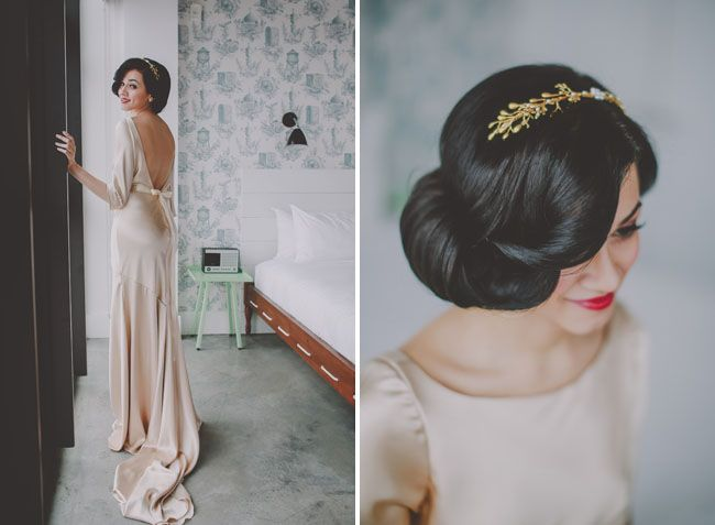Wedding Dresses | 1930s Wizard of Oz Wedding Inspiration || Green Wedding Shoes || styling is by hushedCOMMOTION :: dress: Rebecca Schone, of Schone Design who makes modern wedding dresses with vintage inspiration :: photography: Chellise Michael and assistant Daniel Orren
