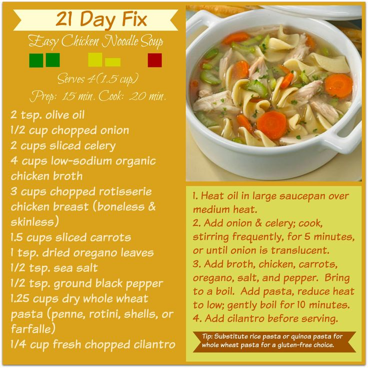 FIXATE EASY Chicken Noodle Soup!