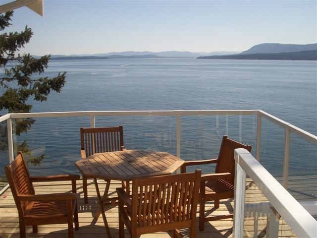 The view from our deck, Pender Island BC
