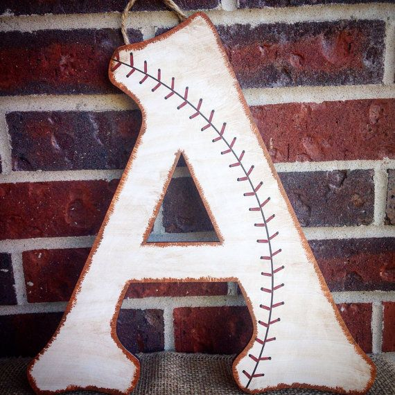 Baseball Nursery Wall Letters-Baseball by AJsPrivyCreations
