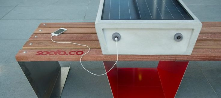 Le banc connecté Soofa, précurseur du mobilier urbain intelligent