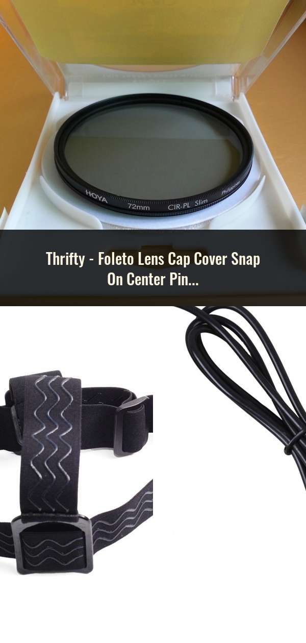 72mm Lens Cap with Centre Grip and Cord Pinch Release.