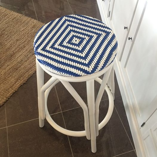 Newport stool in Navy & White perfect for your beach house www.rococodesign.com.au