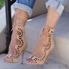 Sandalias de gladiador de Las Mujeres 2016 Summer Marca de Diseño sandalias tacon Ata Para Arriba Las Sandalias de Las Mujeres zapatos de Tacón Alto Sexy Zapatos de fiesta Más S621(China (Mainland))
