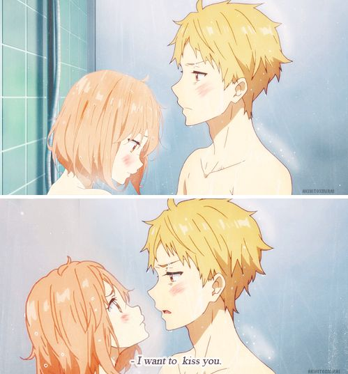 I´m wandering HOW they are in the same bath...but wait! the real important thing is Kuriyama is watching his penis!!!!!