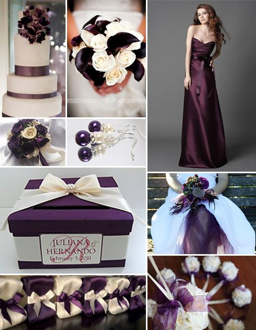 Plum and Ivory--- wedding colors